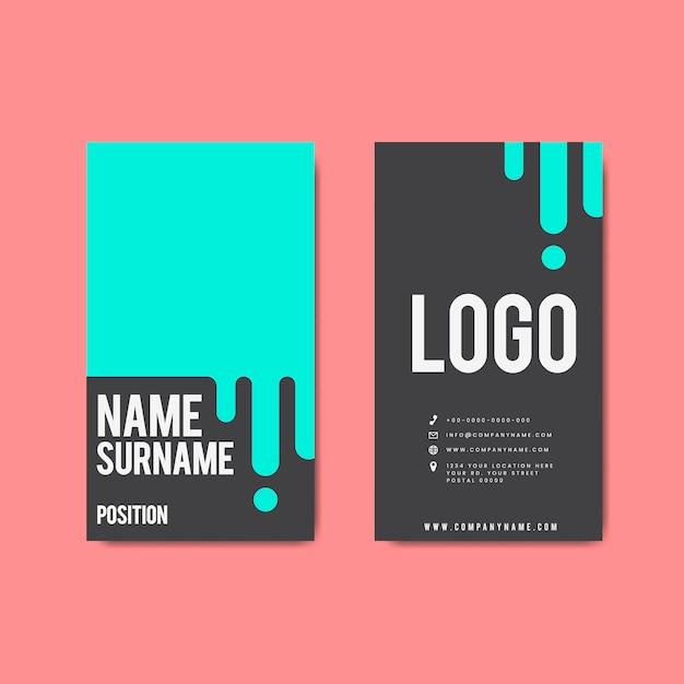 Design creativo moderno biglietto da visita retrò Vettore gratuito