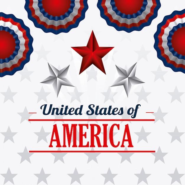Design degli stati uniti d'america. Vettore gratuito