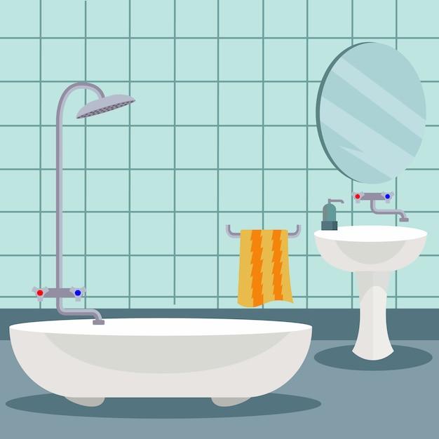 Design del bagno di sfondo scaricare vettori gratis for Design del bagno