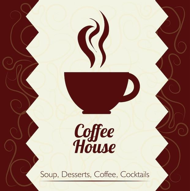 Design del caffè Vettore Premium