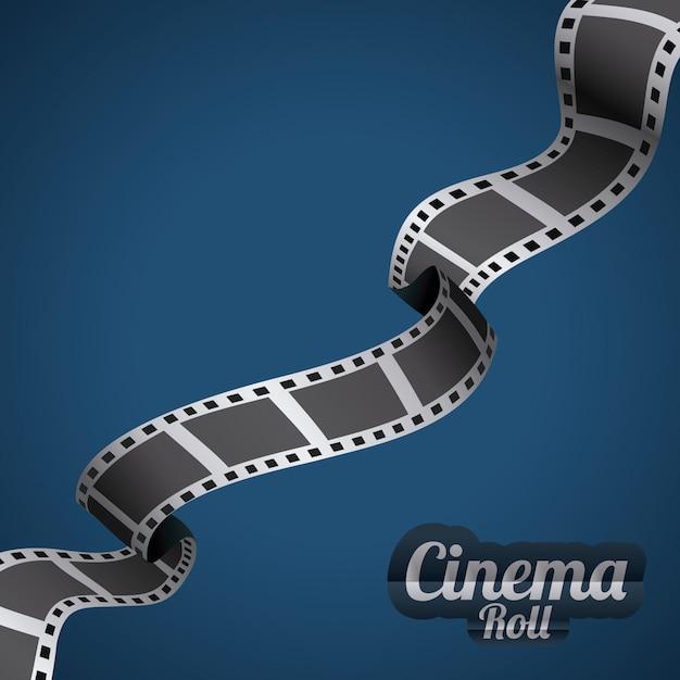 Design del cinema Vettore Premium