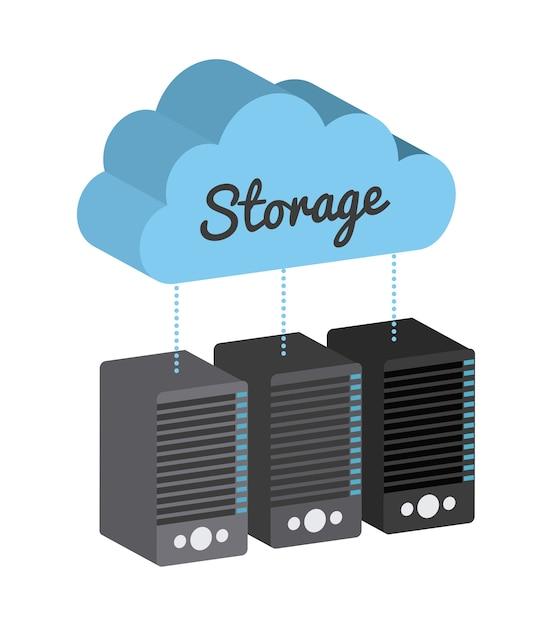 Design del dispositivo di archiviazione Vettore Premium