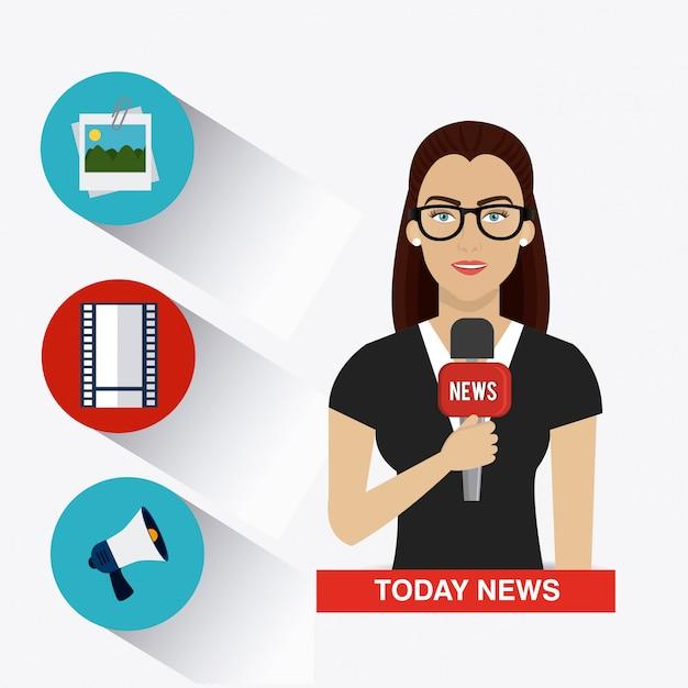 Design del giornalismo Vettore Premium