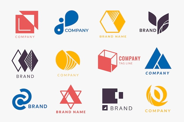 Design del logo aziendale Vettore gratuito