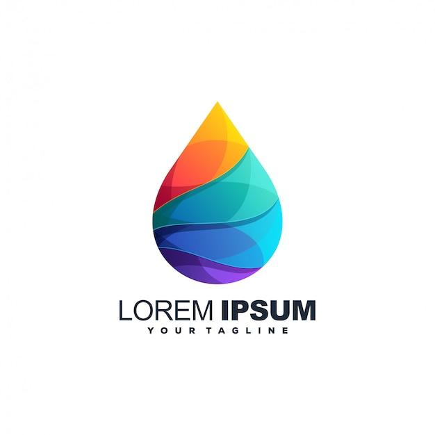 Design del logo colore bio gas Vettore Premium