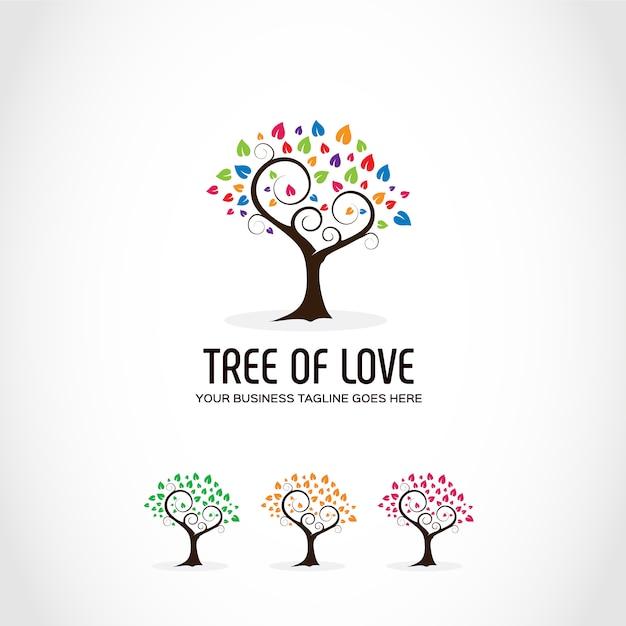 Design del logo dell'albero Vettore gratuito