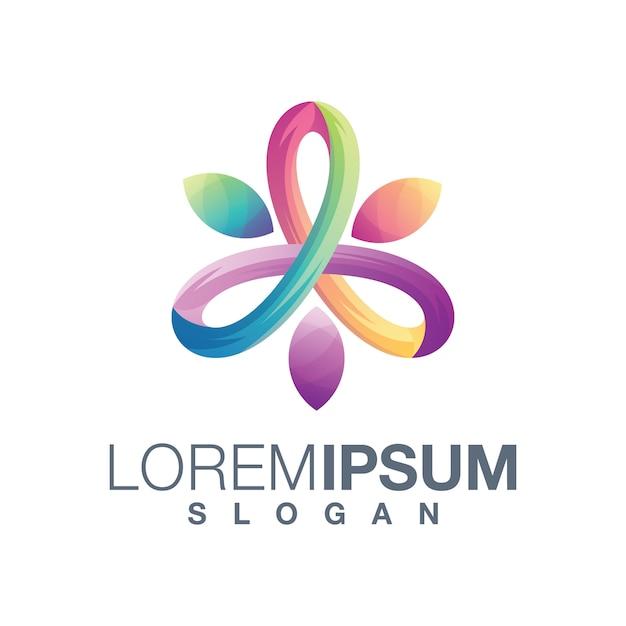 Design del logo gradiente astratto benessere Vettore Premium