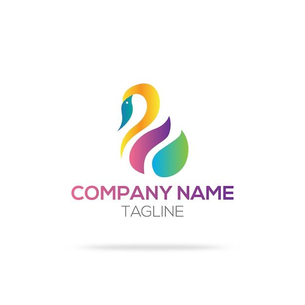 Design del logo swan Vettore gratuito