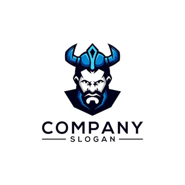 Design del logo viking Vettore Premium