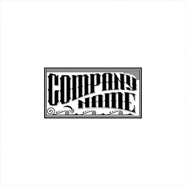 Design del logo vintage Vettore Premium