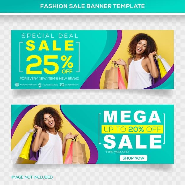 Design del modello banner mega vendita Vettore Premium