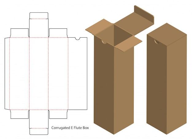 Design del modello fustellato di imballaggio della scatola. Vettore Premium