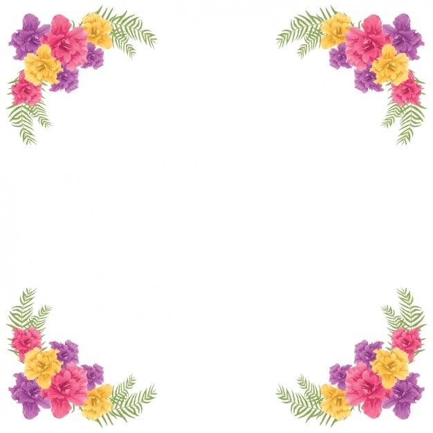 Design del telaio floreale Vettore gratuito