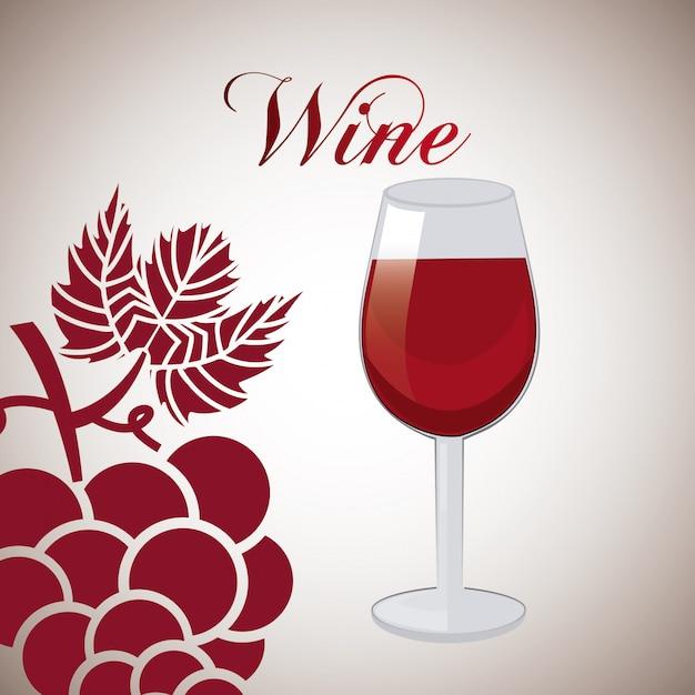 Design del vino Vettore Premium