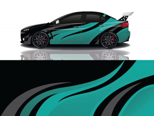 Design dell'involucro della decalcomania dell'automobile sportiva Vettore Premium
