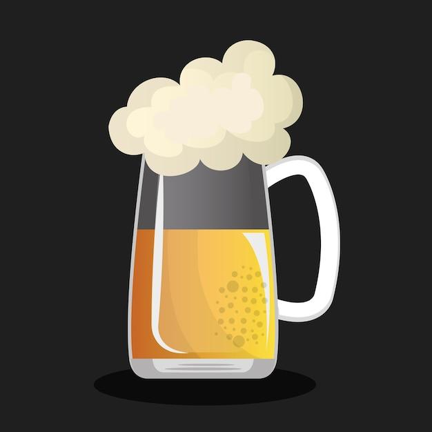 Design della birra della germania Vettore Premium