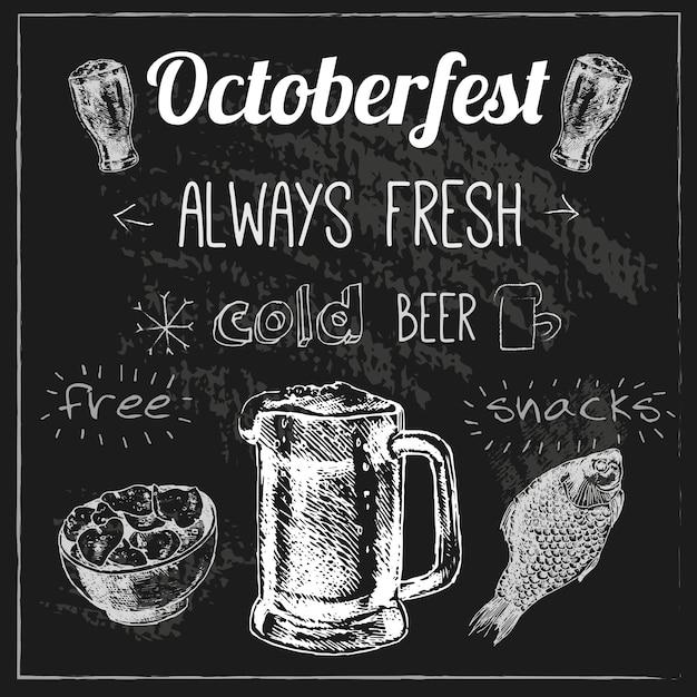 Design della birra oktoberfest Vettore Premium