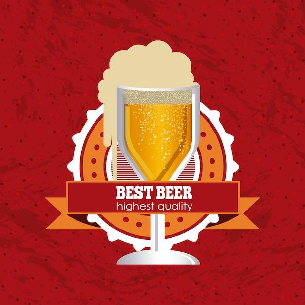 Design della birra Vettore Premium