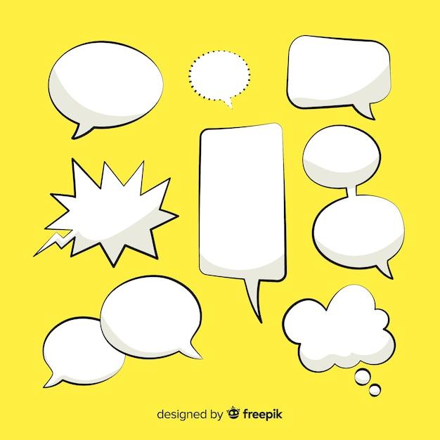 Design della collezione fumetto comico Vettore gratuito