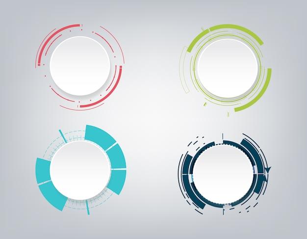 Design della comunicazione tecnologia astratta. Vettore Premium