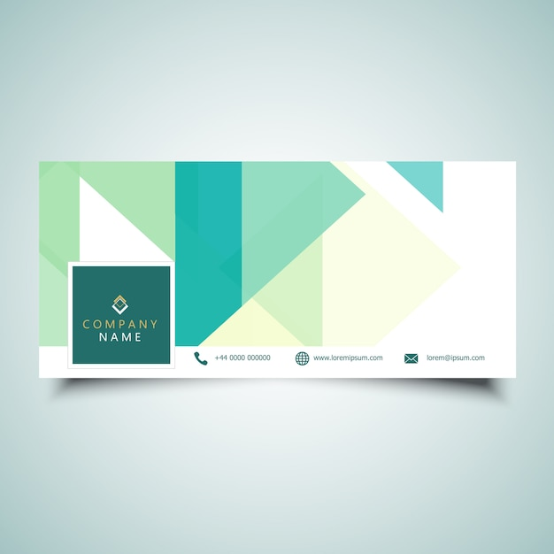 Design della copertina della cronologia dei social media con design a basso contenuto di poli Vettore gratuito