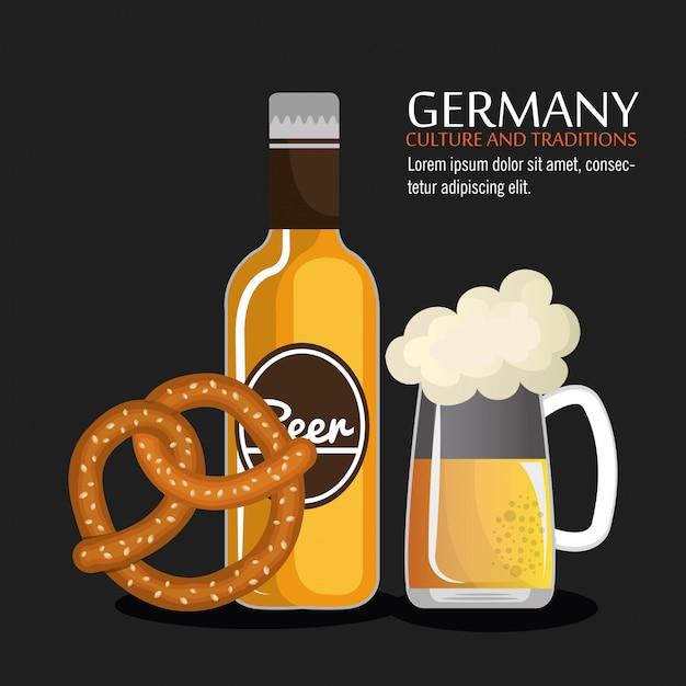 Design della cultura tedesca Vettore gratuito