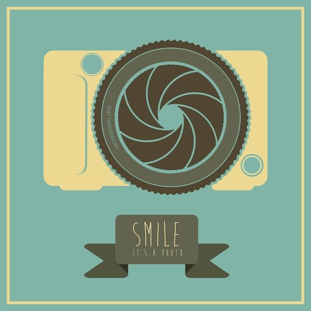 Design della fotocamera Vettore Premium