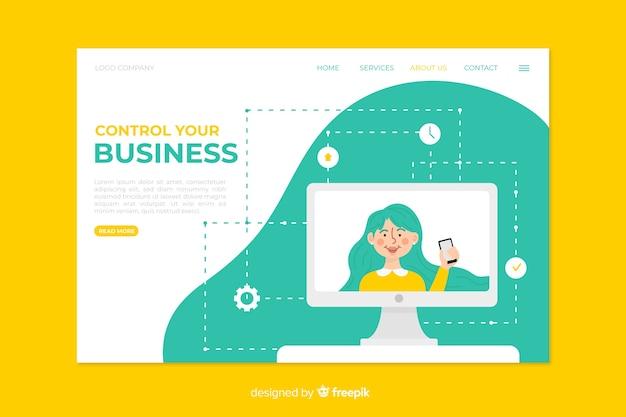Design della pagina di destinazione aziendale per modello Vettore gratuito