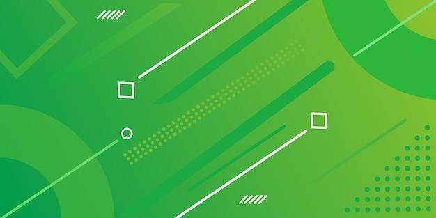 Design della pagina di destinazione con gradiente con elementi di memphis Vettore Premium