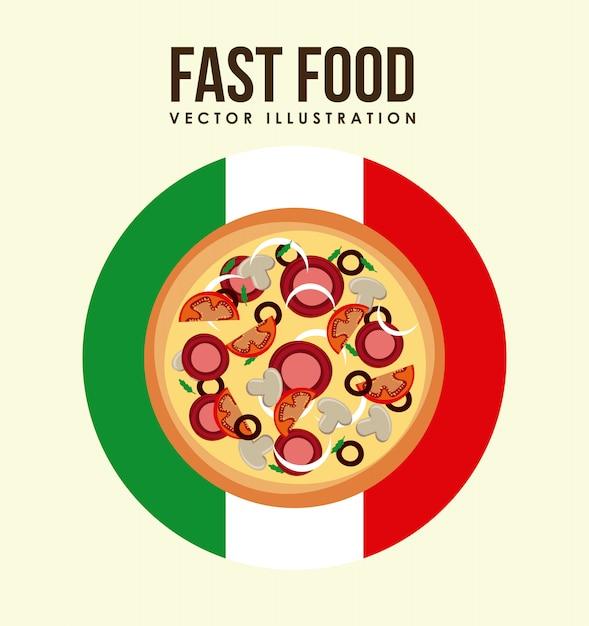 Design della pizza Vettore gratuito