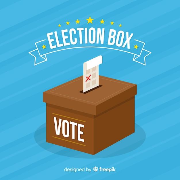 Design della scatola di elezione Vettore gratuito