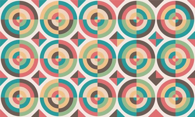 Design delle piastrelle. illustrazione vettoriale modello del pavimento. elementi decorativi vintage. perfetto per la stampa su carta o tessuto. Vettore Premium