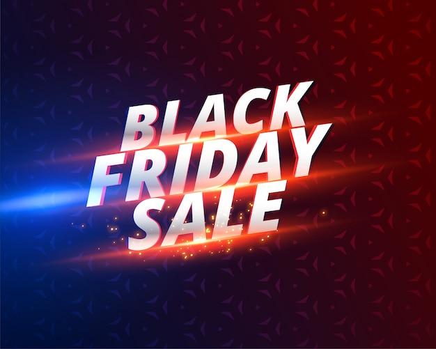 Design di banner vendita nero lucido venerdì Vettore gratuito