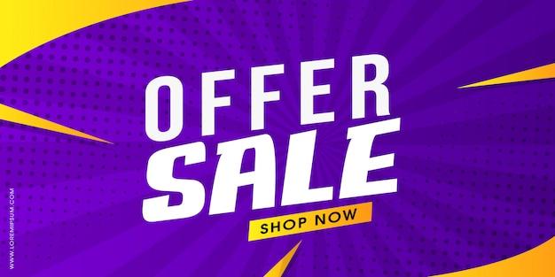 Design di banner vibrante in vendita Vettore Premium