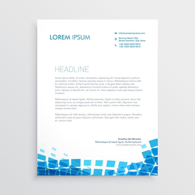 Favoloso Design di carta intestata in stile mosiac blu | Scaricare vettori  BW91