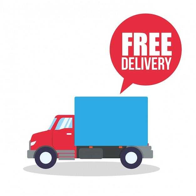 Design di consegna gratuito Vettore Premium