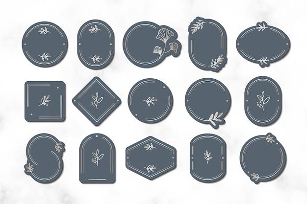 Design di cornici botaniche minimali Vettore gratuito