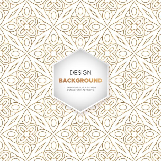 Design di lusso ornamentale mandala sfondo in colore oro Vettore gratuito