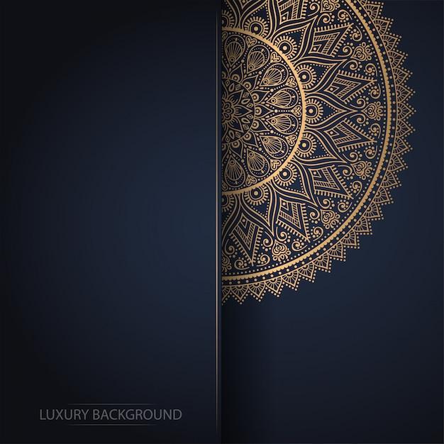 Design di lusso ornamentale mandala Vettore gratuito