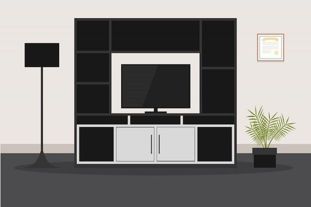 Design di mobili moderni per soggiorno TV | Scaricare vettori Premium