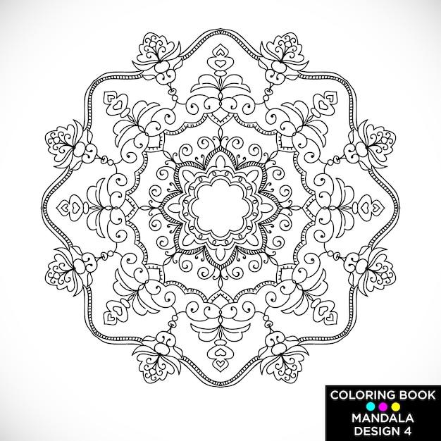 Design di ornamento mandala Vettore gratuito