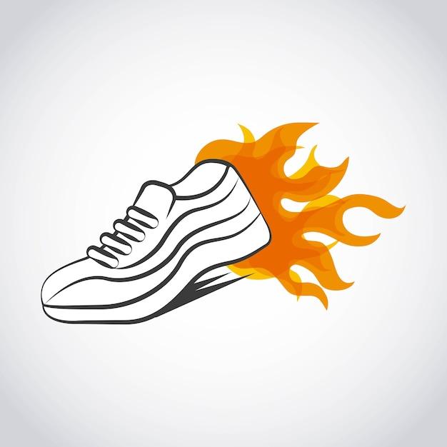 Design di scarpe runner Vettore Premium