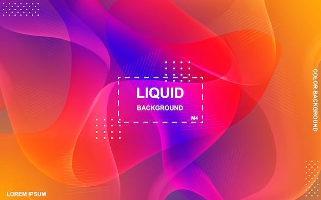 Design di sfondo a colori liquidi Vettore Premium