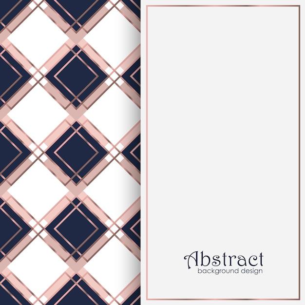 Design di sfondo di lusso con elementi geometrici Vettore gratuito