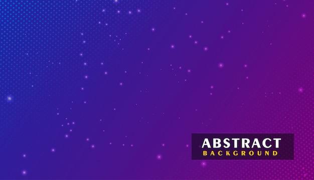 Design di sfondo tecnologico con effetti di particelle di luce Vettore Premium