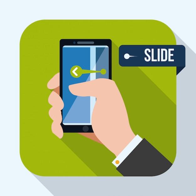 Design di smartphone Vettore Premium