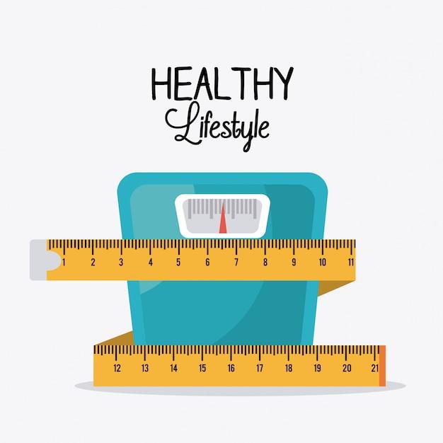 Design di stile di vita sano. Vettore Premium