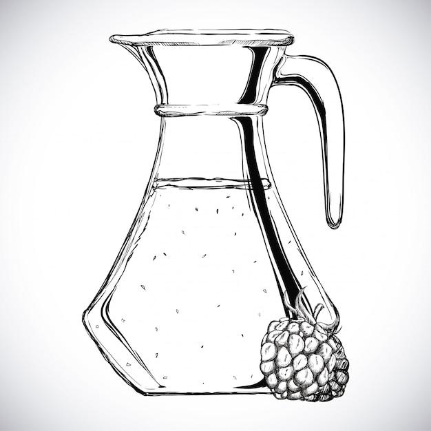 Design di succo di frutta Vettore Premium