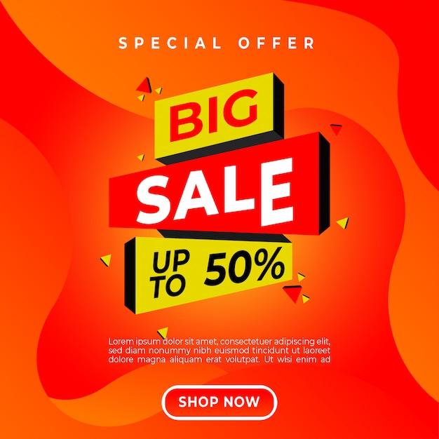 Design di vendita Vettore Premium
