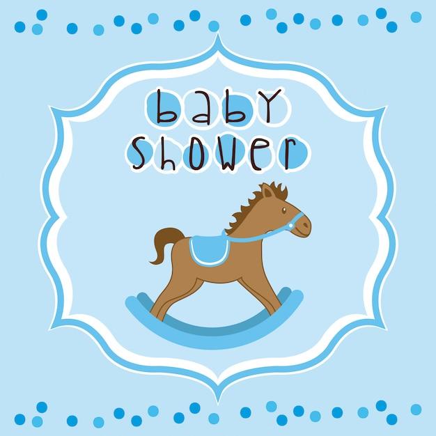 Design doccia per bambini Vettore Premium